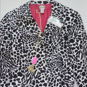 🔥🔥 Chico's Spotted Animal Print Jacket Size 2🔥